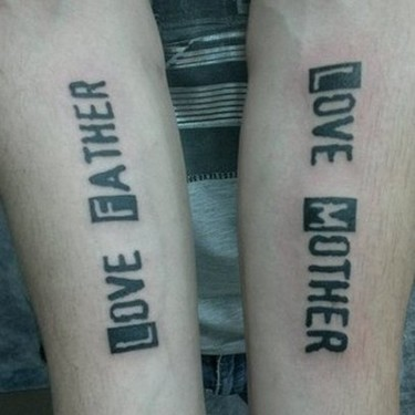Father and Mother Love Tattoo