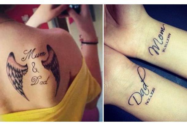 Mom Dad Tattoo Idea