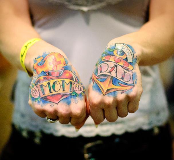Coolest Mom and Dad Tattoo Idea