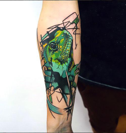 Abstract Lizard Tattoo Idea