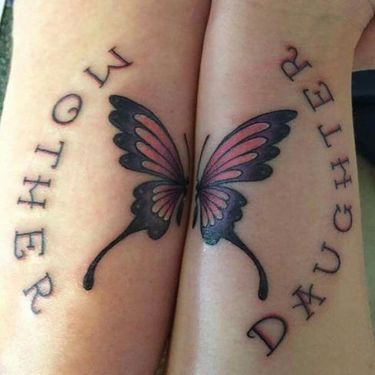 Mother Daughter Butterfly Tattoo