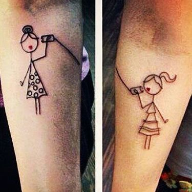 Cool Simple Matching Sisters Tattoo