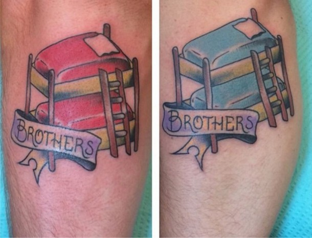 Bunk Bed Brothers Tattoo Idea