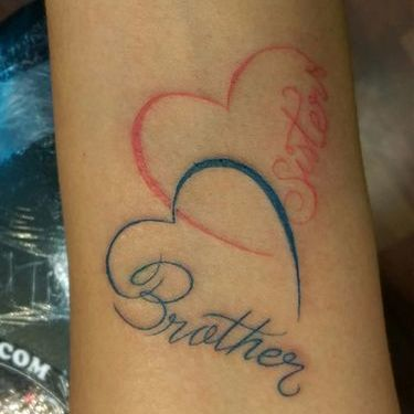 Brother Sister Heart Tattoo