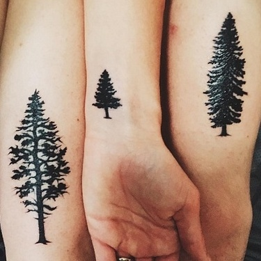 Brother Sisters Trees Tattoo
