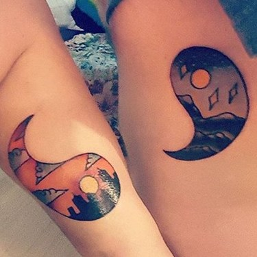 Brother and Sister Yin Yang Tattoo