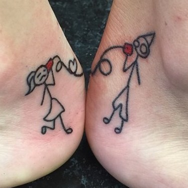 Brother Sister Connection Tattoo