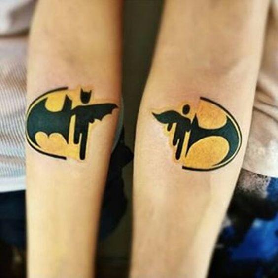 Batman Matching Tattoo Idea