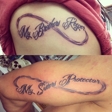 Infinity Brother Sister Tattoo
