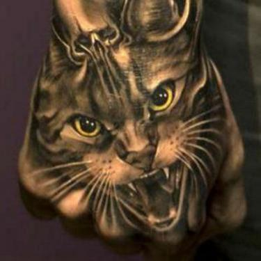 Angry Cat Tattoo