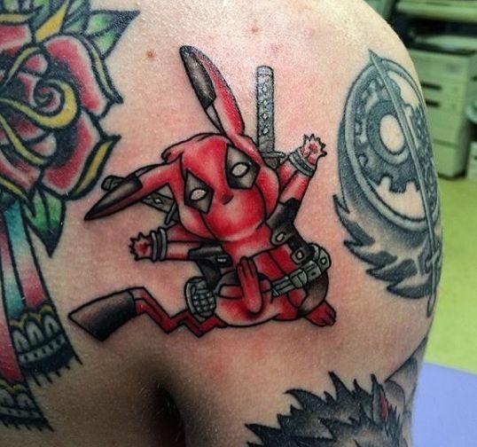 Deadpool Pikachu Tattoo Idea