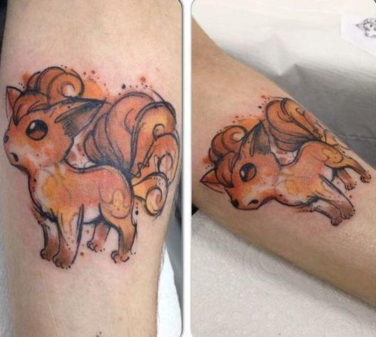 Pokemon Vulpix Tattoo Idea