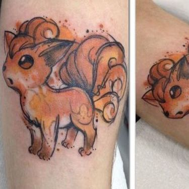 Pokemon Vulpix Tattoo