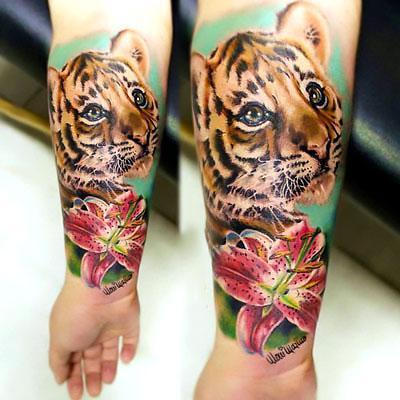 Amazing Baby Tiger Tattoo Idea
