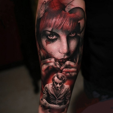 Harley Quinn Joker Sleeve Tattoo