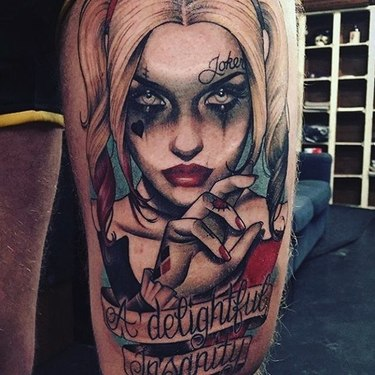 Harley Quinn A Delightful Insanity Tattoo