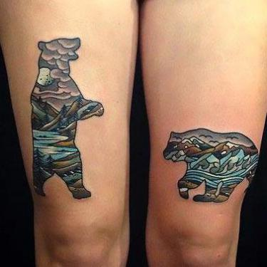Amazing Bears Tattoo