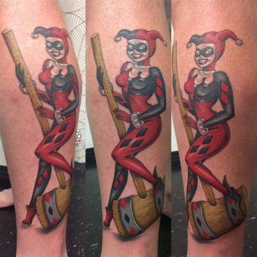 Harley with Hammer Tattoo