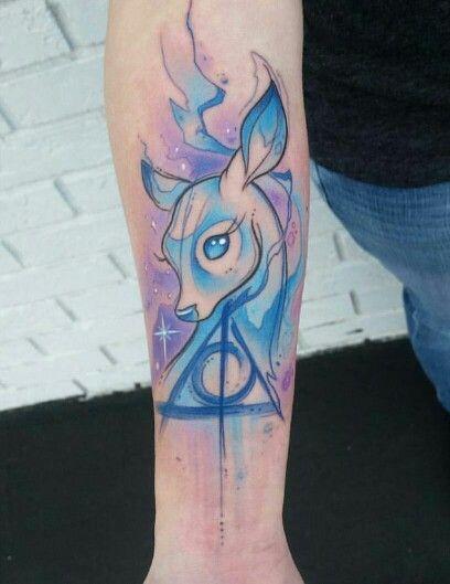 Doe Patronus and Deathly Hallows Tattoo Idea