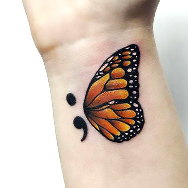 New Beginning Semicolon Tattoo