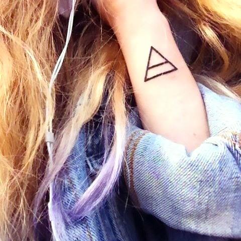 Simple Triangle Change Tattoo Idea