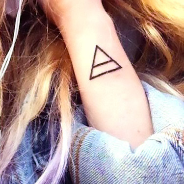 Simple Triangle Change Tattoo