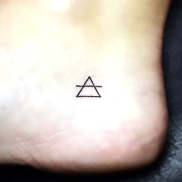 Tiny Triangle Tattoo