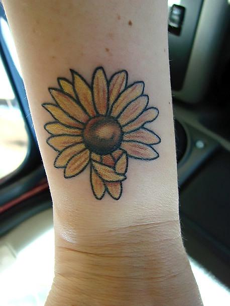 Yellow Flower Tattoo Idea