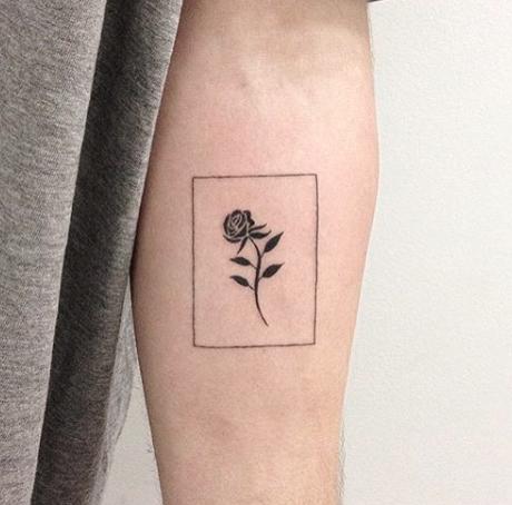 Tiny Rose Tattoo Idea