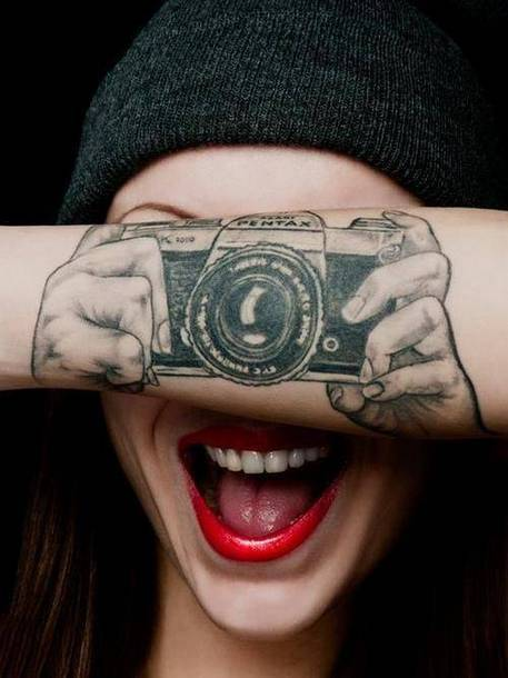 Camera Photo Tattoo Idea