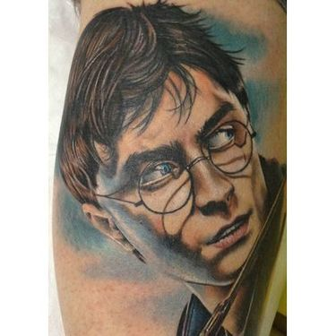 Realistic Harry Potter Tattoo