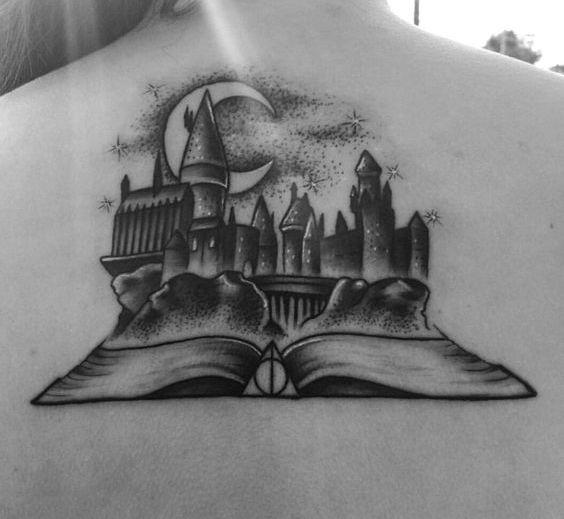 Harry Potter Book Tattoo Idea