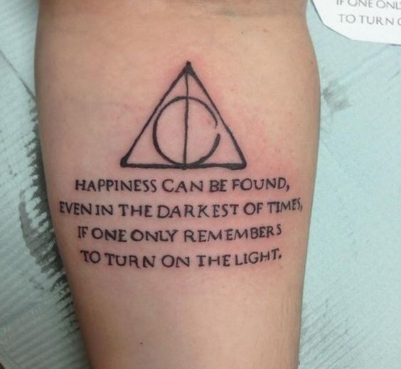 Harry Potter Quote Tattoo Idea