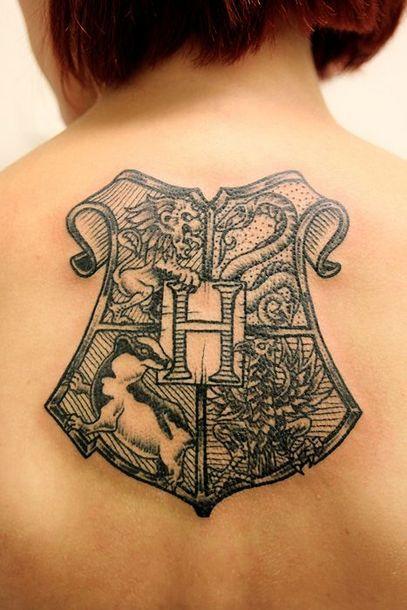 Hogwarts Shield Tattoo Idea