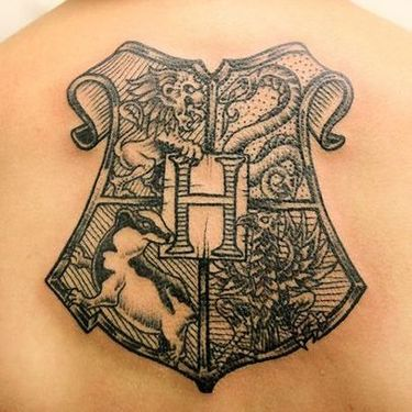 Hogwarts Shield Tattoo