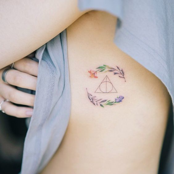 Cute Deathly Hallows Tattoo Idea