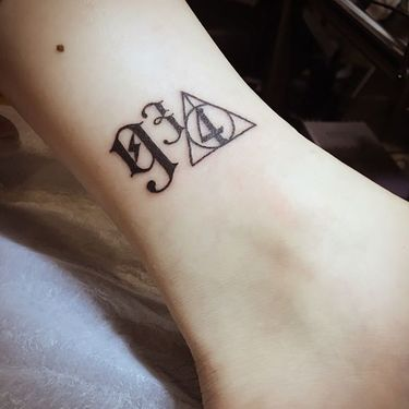 Harry Potter Platform 9 3/4 Tattoo