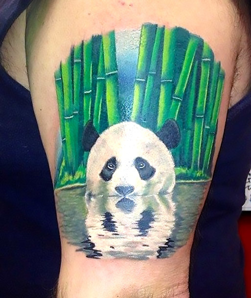 Amazing Panda Tattoo Idea