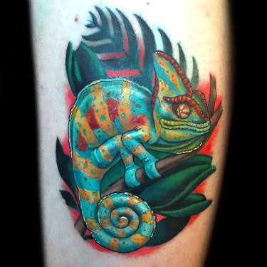 Awesome Chameleon Tattoo