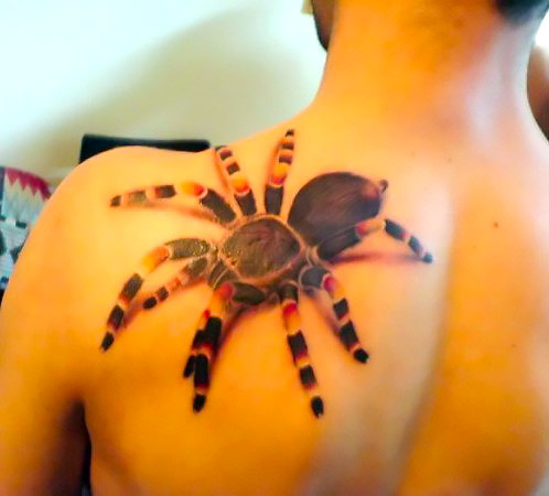 Awesome Creepy Tarantula Tattoo Idea