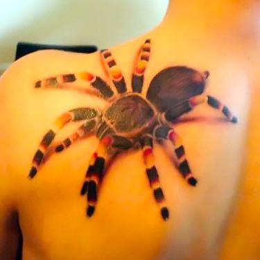 Awesome Creepy Tarantula Tattoo