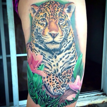Awesome Jaguar Tattoo