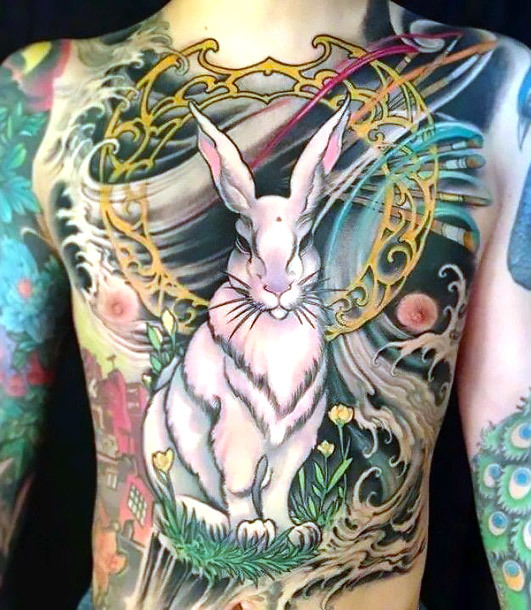 Badass Rabbit Tattoo Idea