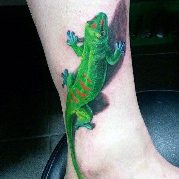 Best 3D Gecko Tattoo Idea