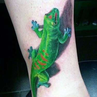 Best 3D Gecko Tattoo