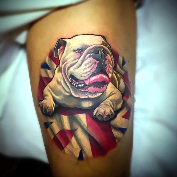 Best Bulldog Tattoo Idea