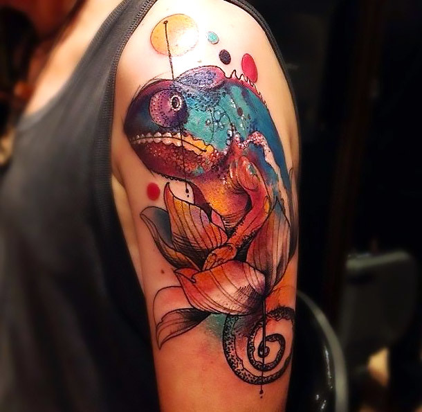 Best Chameleon Tattoo Idea