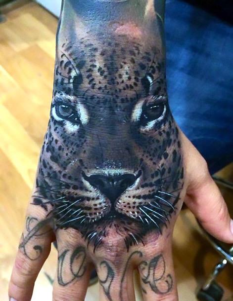 Best Jaguar Hand Tattoo Idea