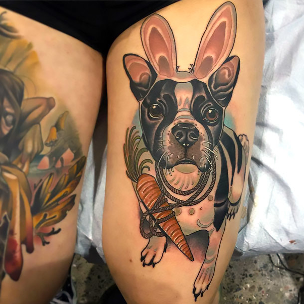 Bunny Bulldog Tattoo Idea