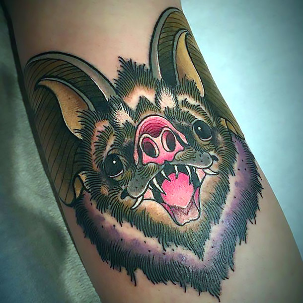 Cool Bat Tattoo Idea
